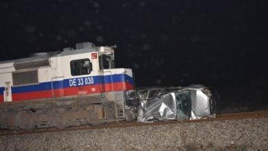 Photo of Aydın'da takla atıp demir yoluna devrilirken tren çarptı!