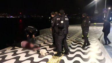 Photo of İzmir Kordon'da dengesini kaybedip denize düştü!