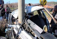 Photo of Manisa Kula'da araba elektrik direğine çarptı!