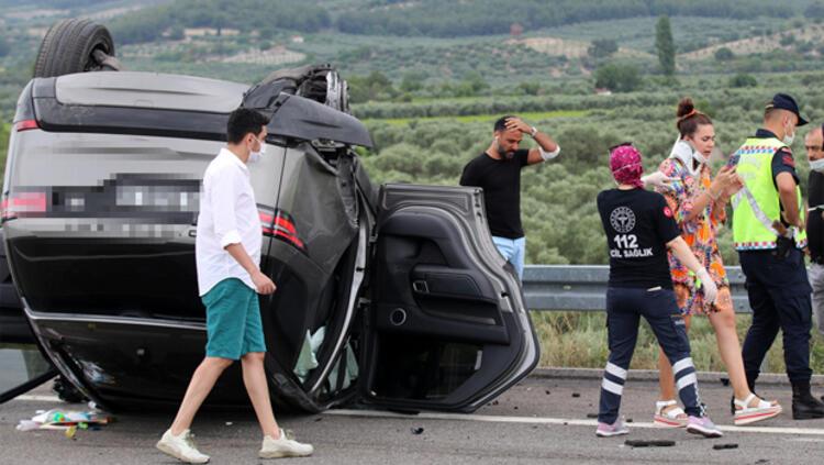 Alişan ailesiyle trafik kazası geçirdi! İşte kaza yerinden ...