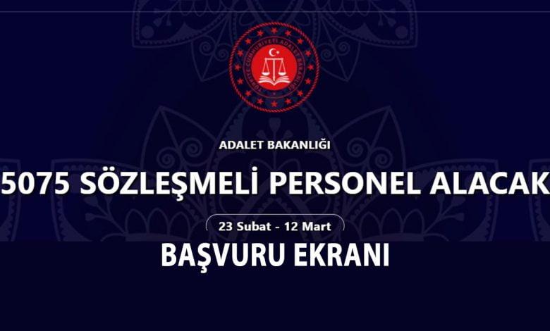 adalet bakanligi 5 bin 75 yeni personel